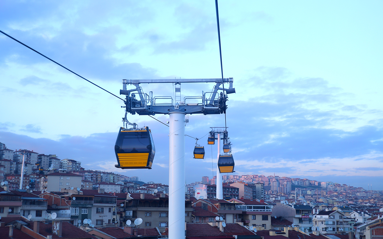 Ankara Metro'ya Havadan Aktarma