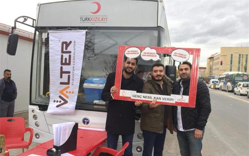 A Blood Donation Campaign Held by Valter Elevator